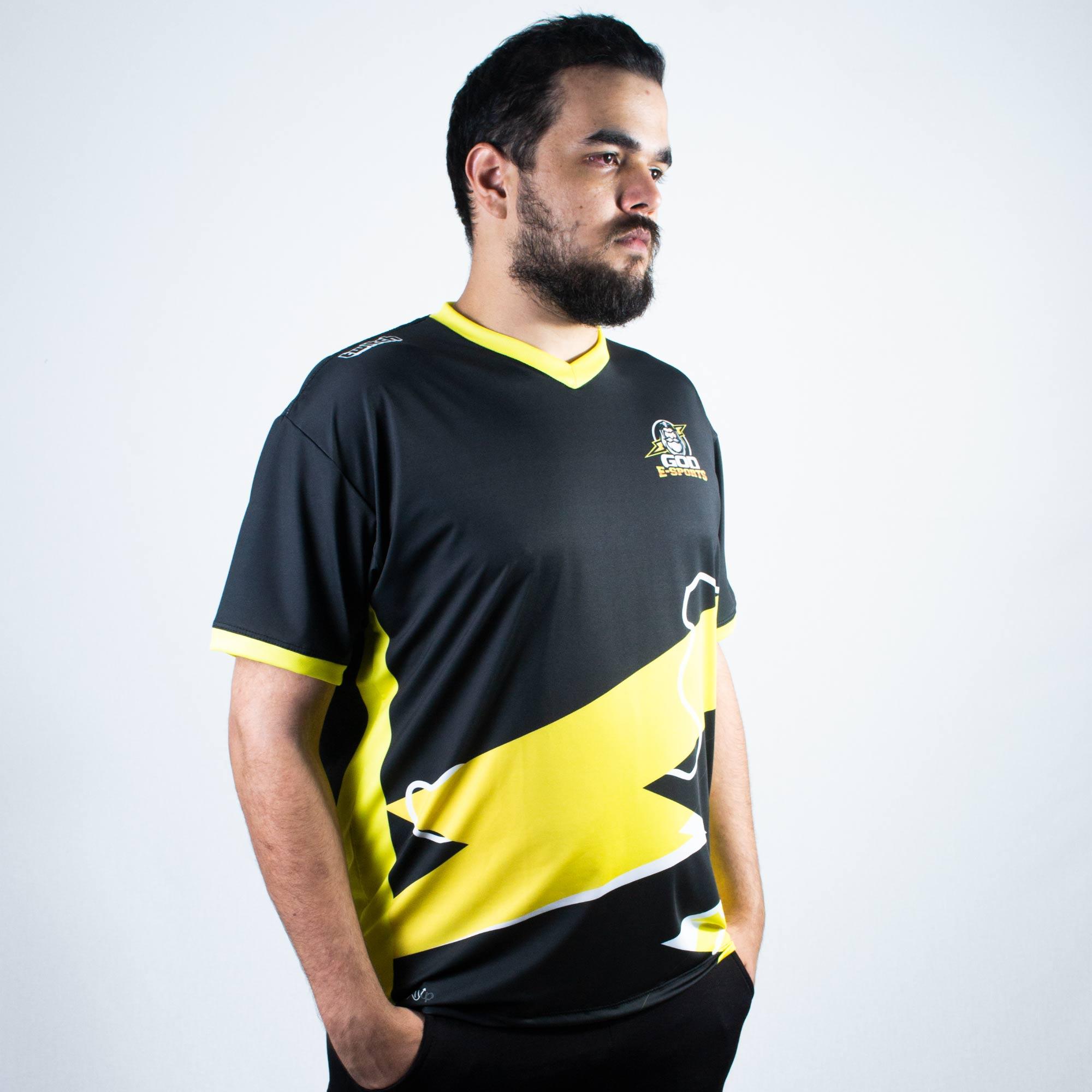 Camiseta Jersey God Esports Torcedor Oficial Preta