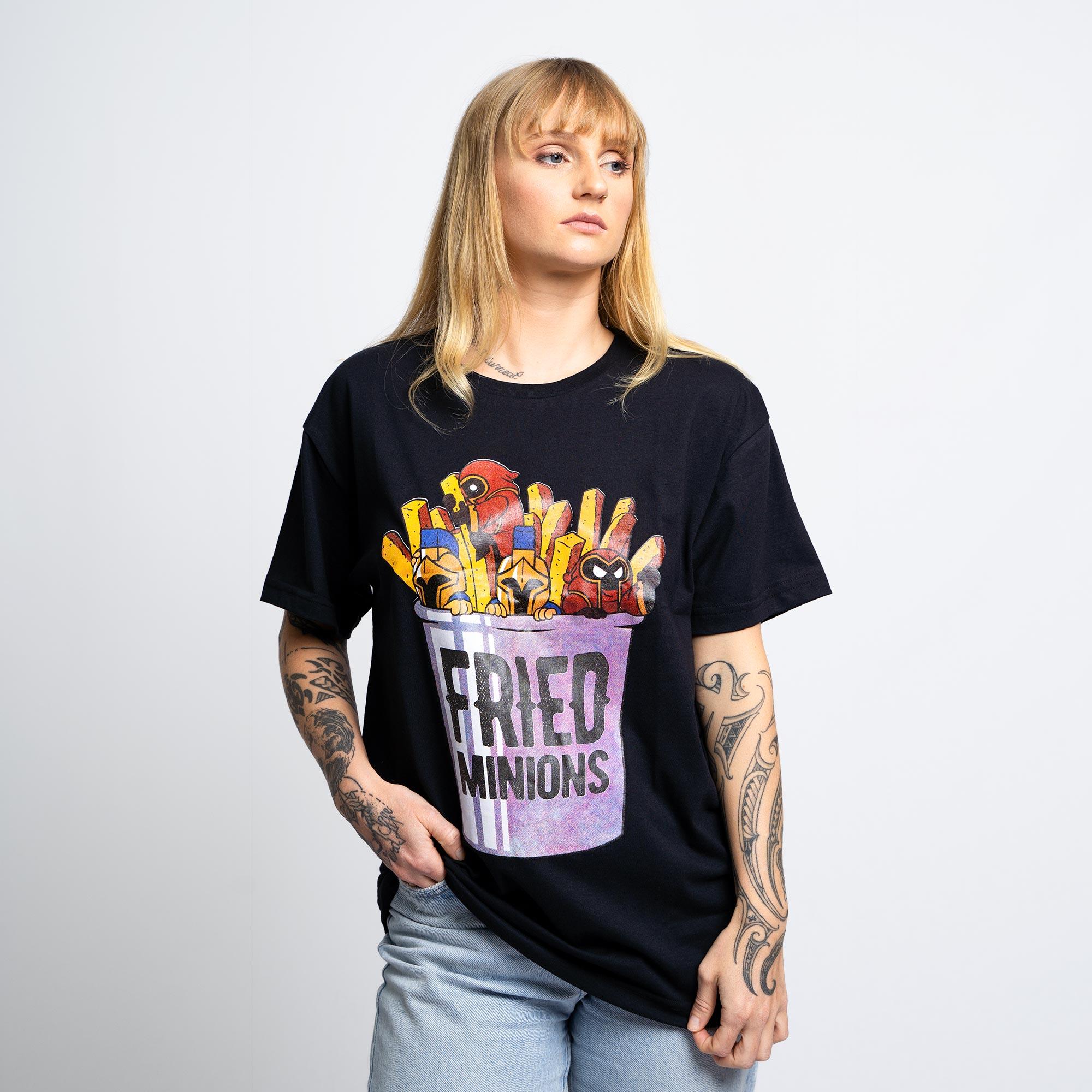 Camiseta Fried Minions Preta