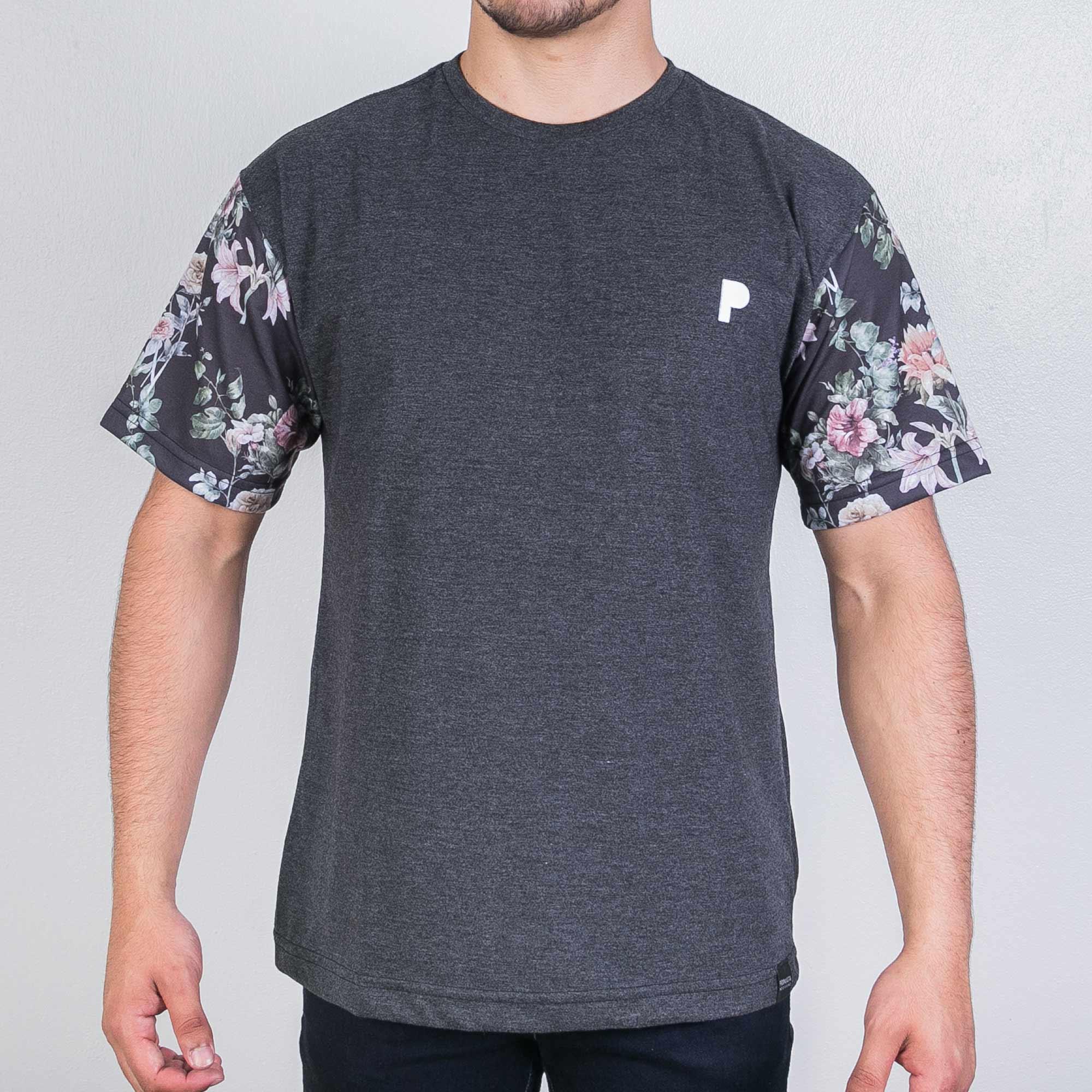 Camiseta Player Grey Flower
