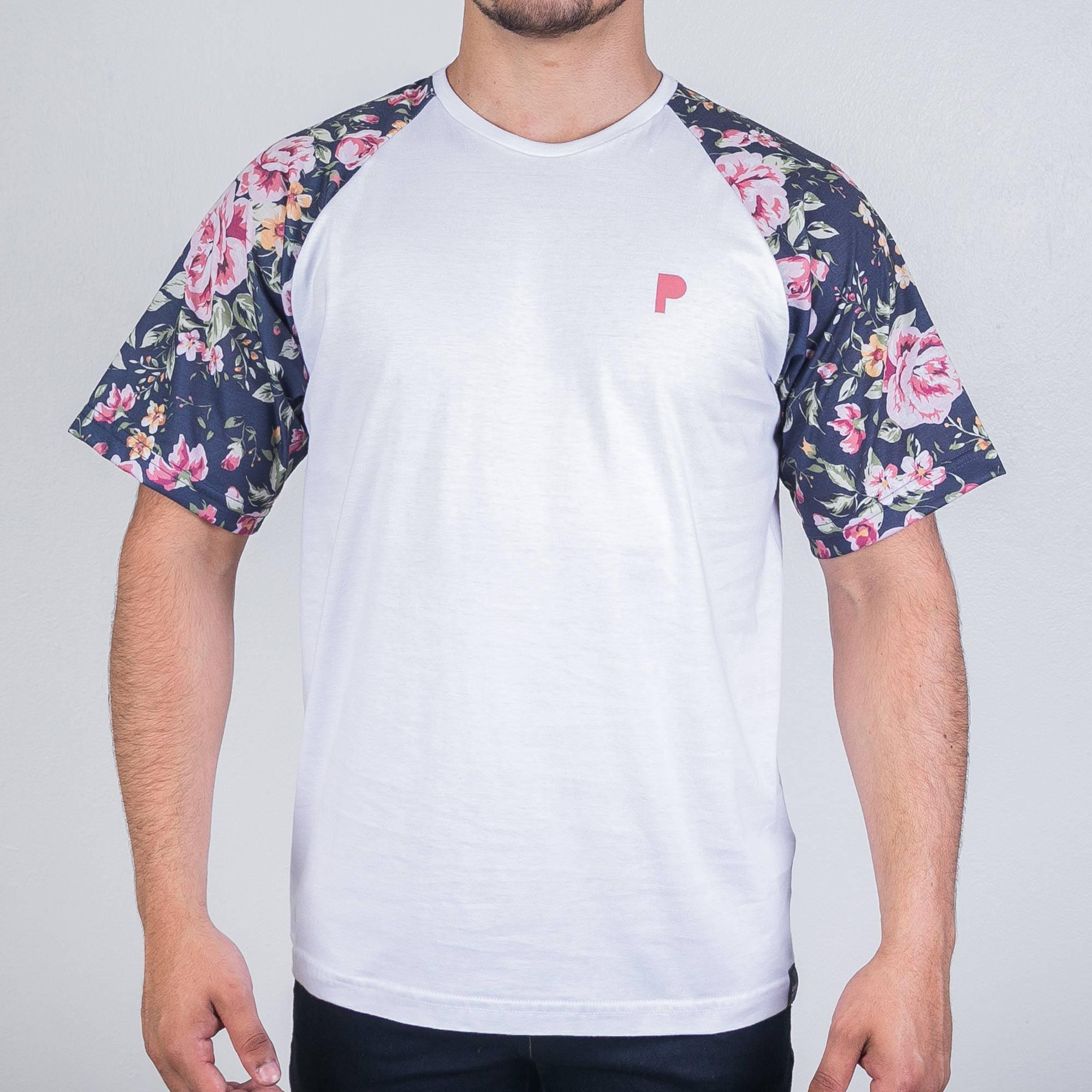 Camiseta Player White Flower