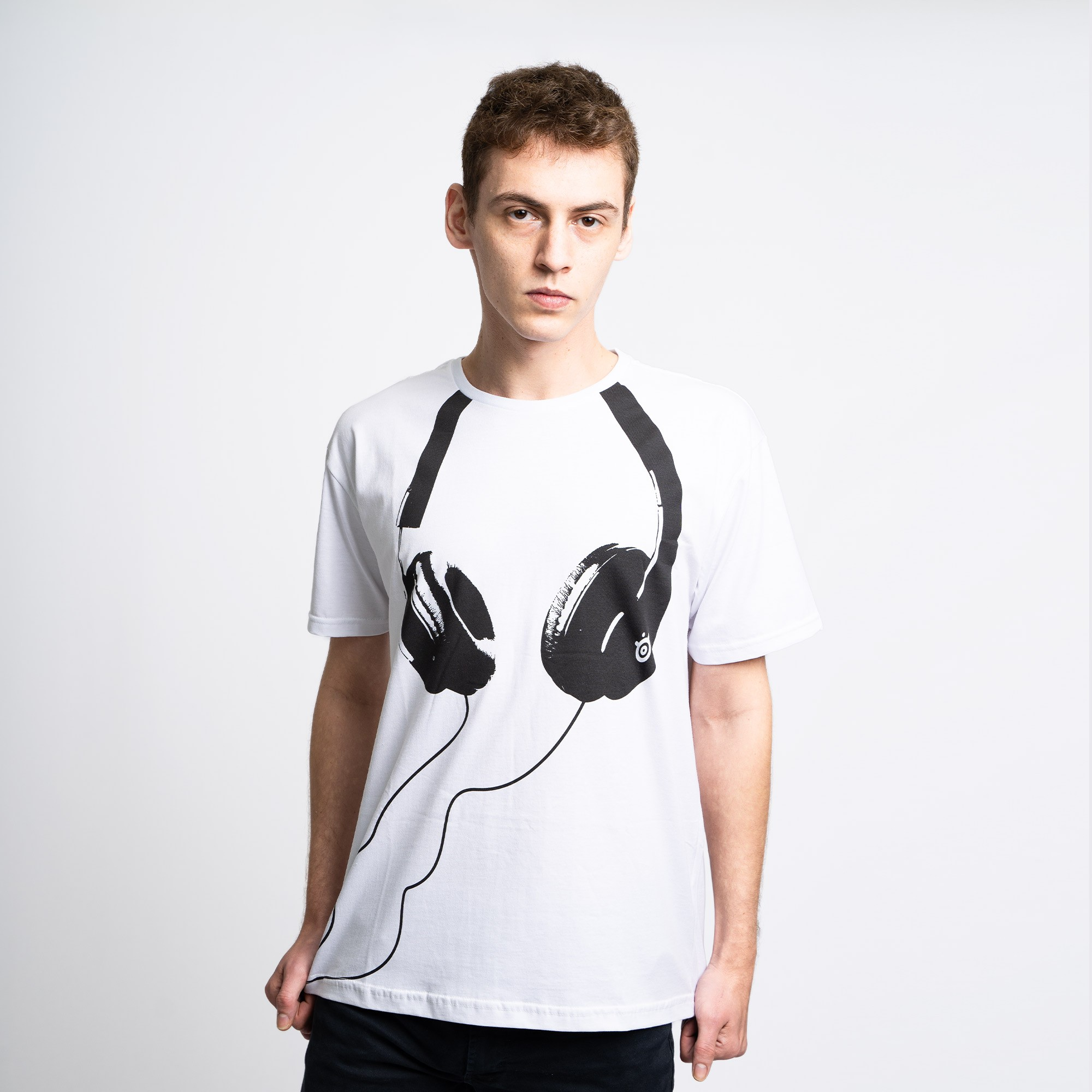 Camiseta Steelseries Headset Branca