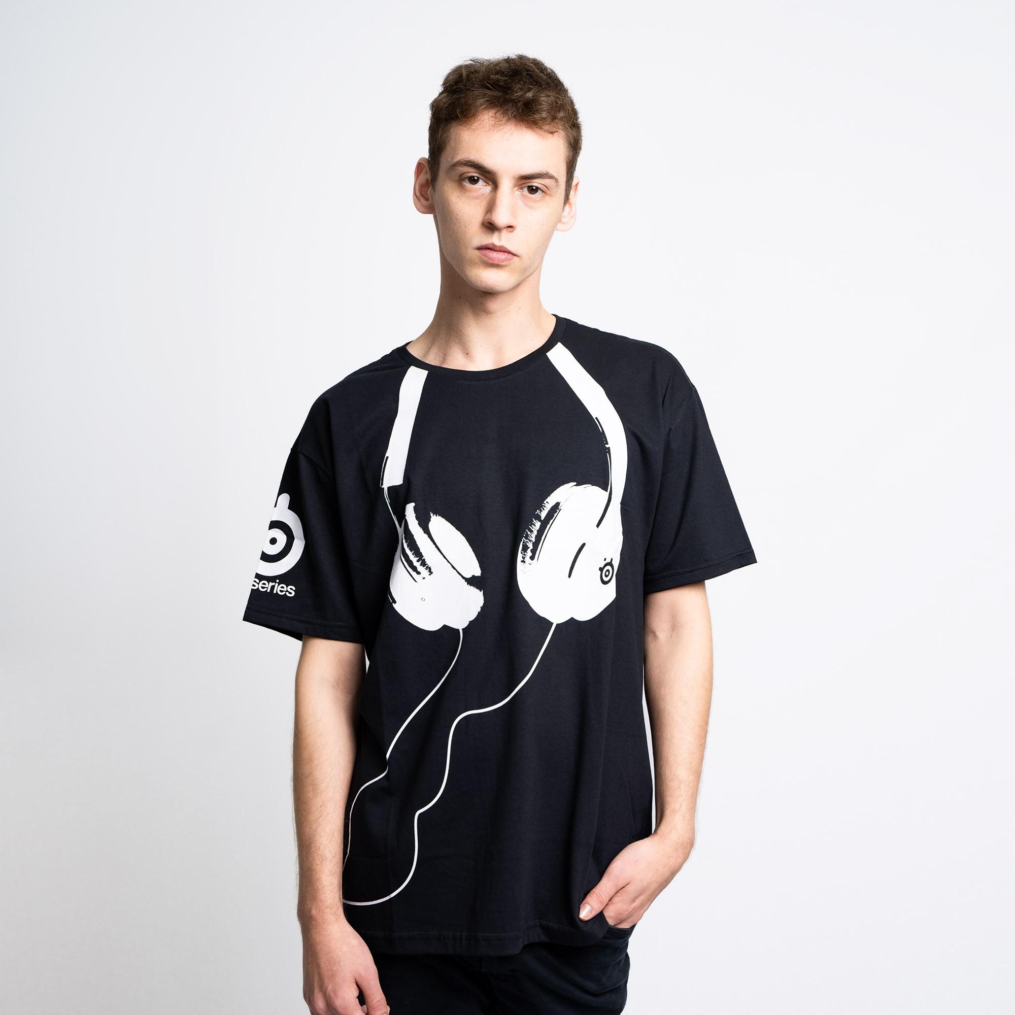 Camiseta Steelseries Headset Preta