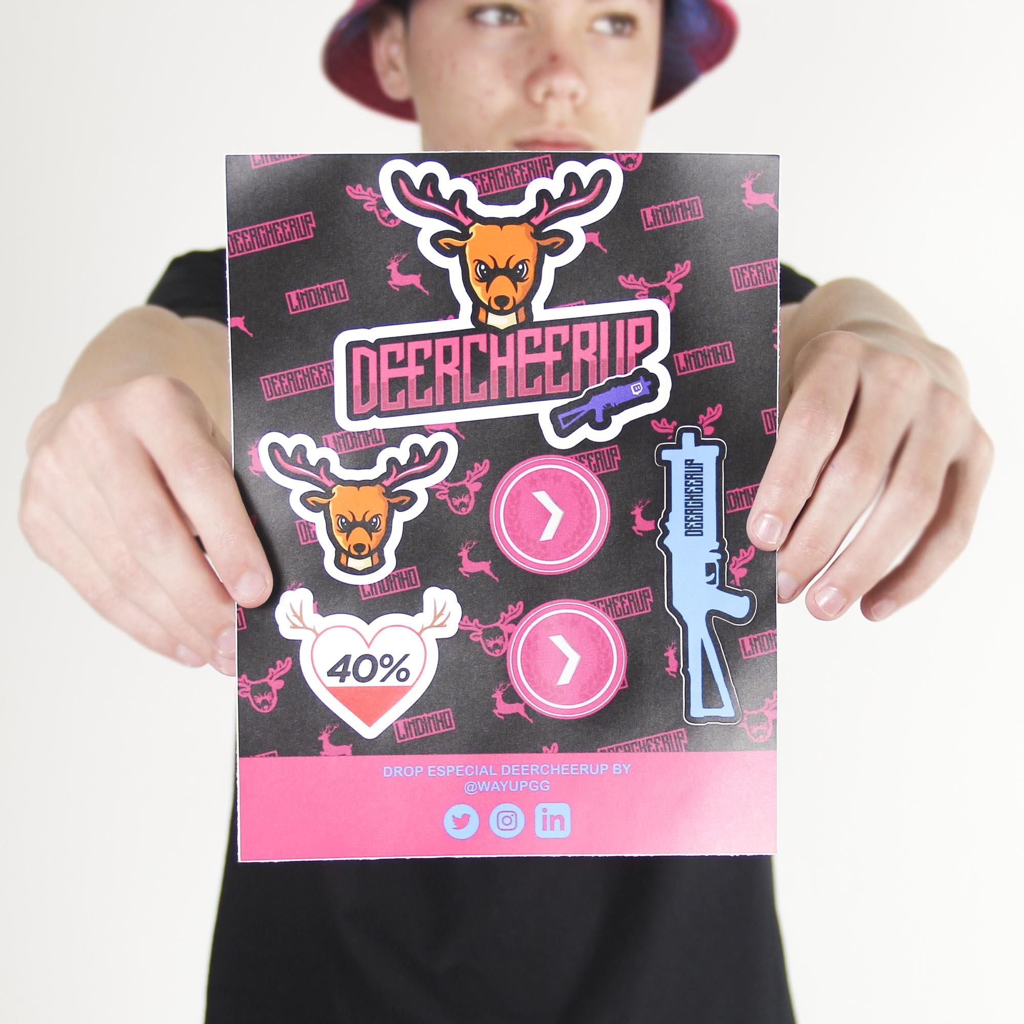 Cartela de Stickers Deercheerup Oficial #1