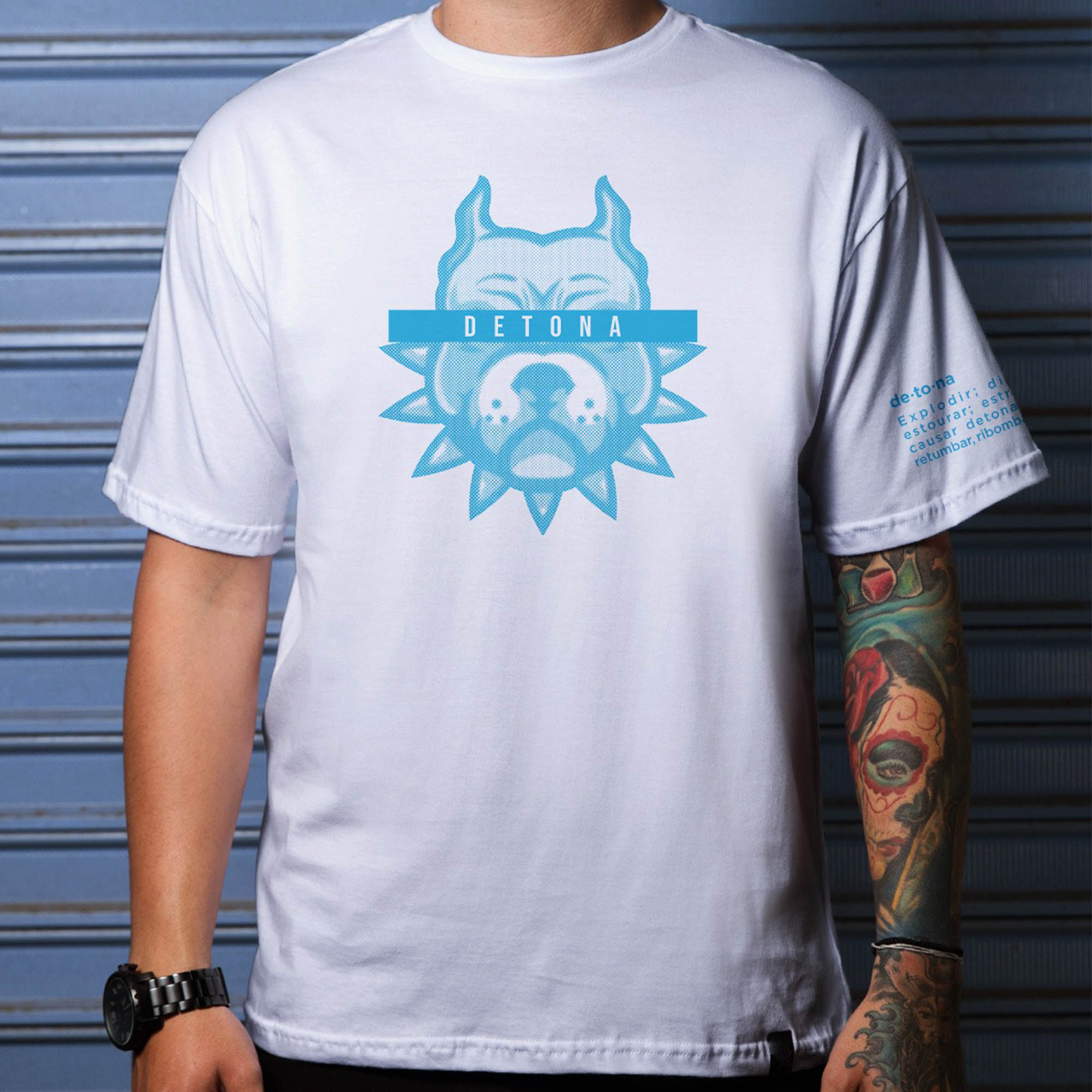 Camiseta Detona Gaming Basic Branca