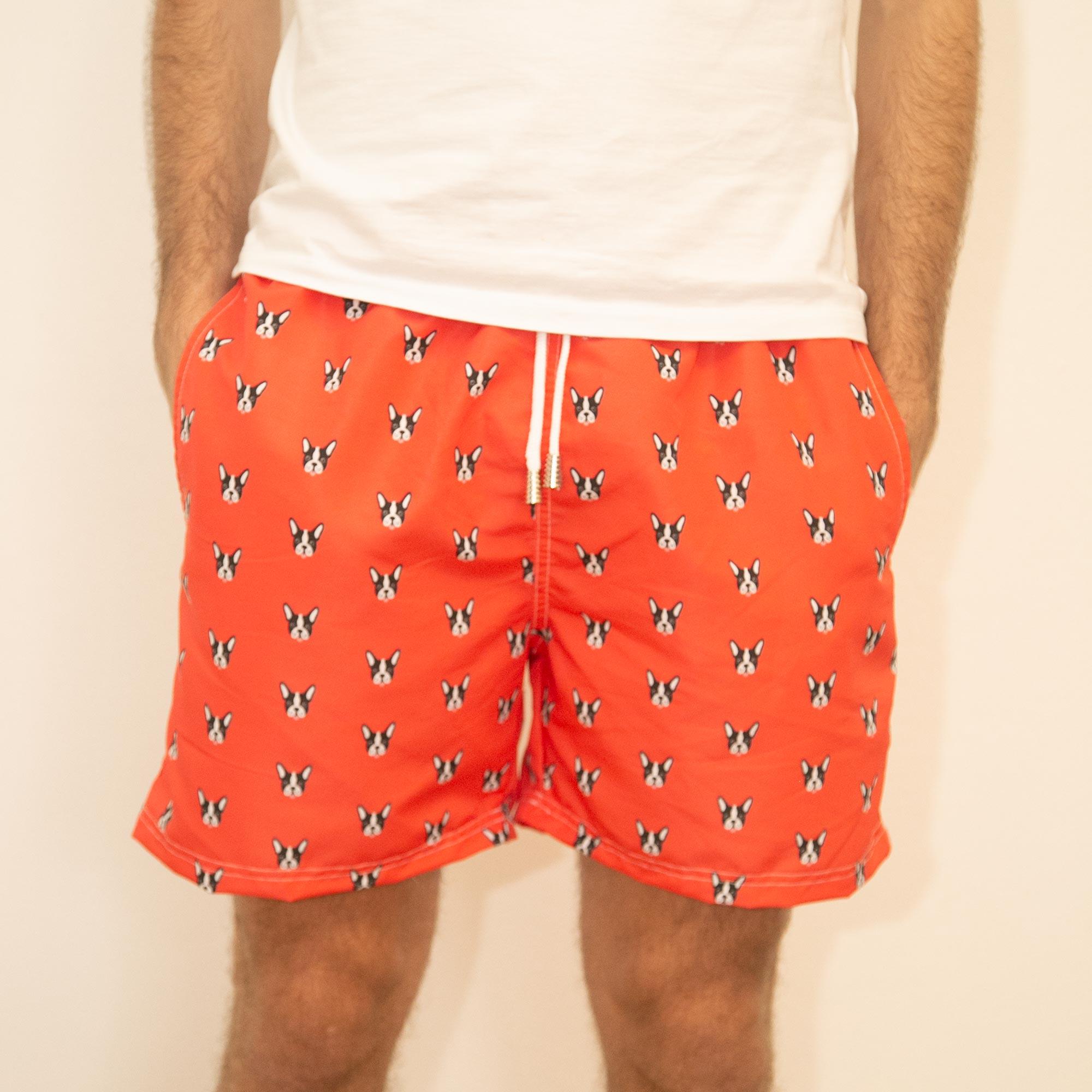 Shorts Bulldog Vermelho