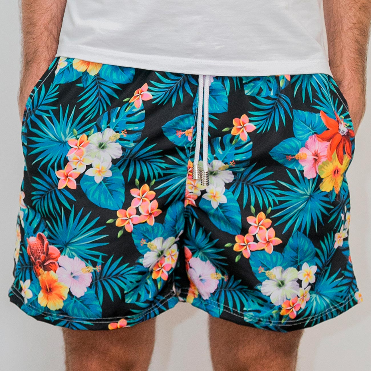 Shorts Floral Dark