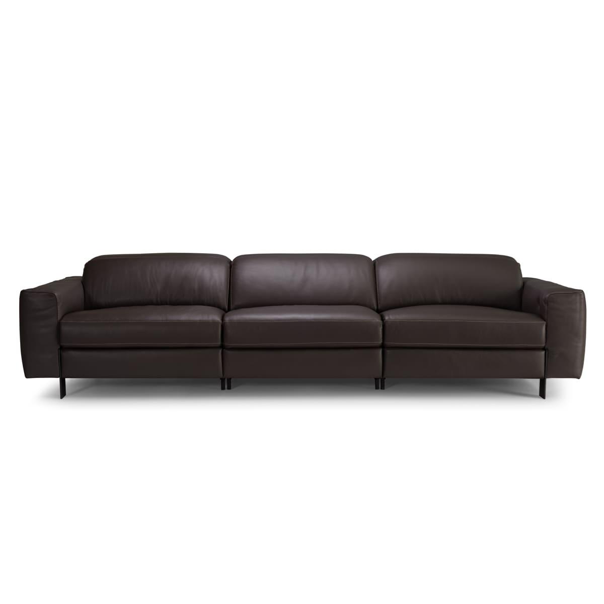 Sofa Retratil 3 Lugares Ofelia Couro Sofa Perfeito Para Sua Casa Sofa Retratil Voktum
