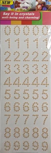 Adesivo Número Pérolas