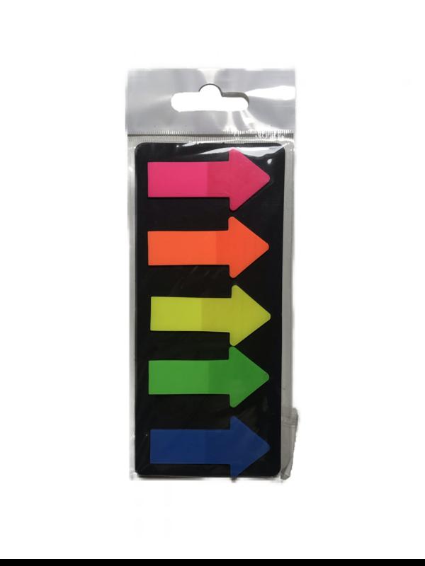 Stick Note Seta Neon 5 Cores