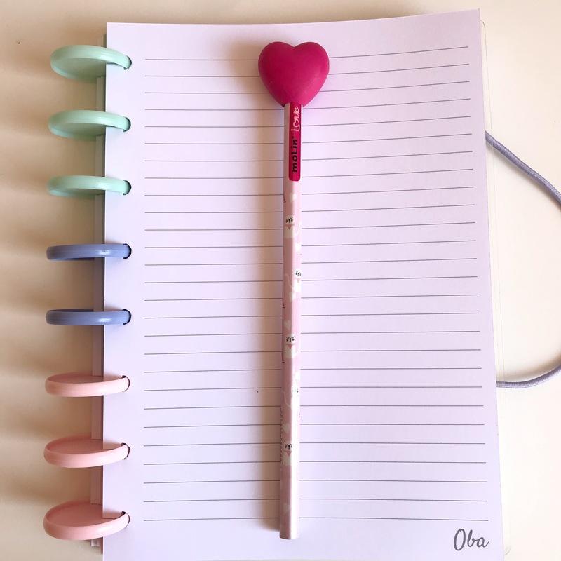 Lápis Ponteira de Borracha Coração MOLIN