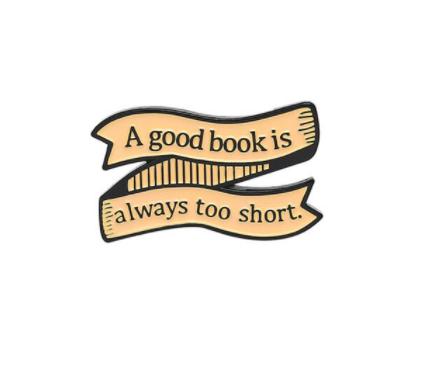 Pin Broche A Good Book