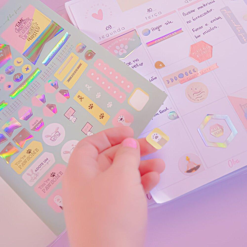 Sticker Book  Álbum de Adesivos OBA