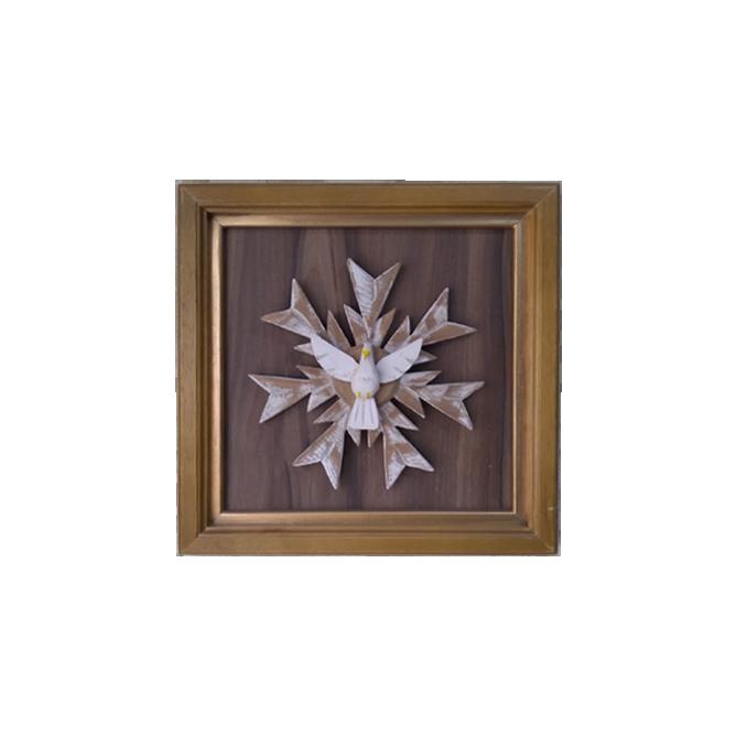 Quadro em madeira Divino Espírito Santo