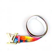 Cinto LV - Fiv. Dourada 4Cm