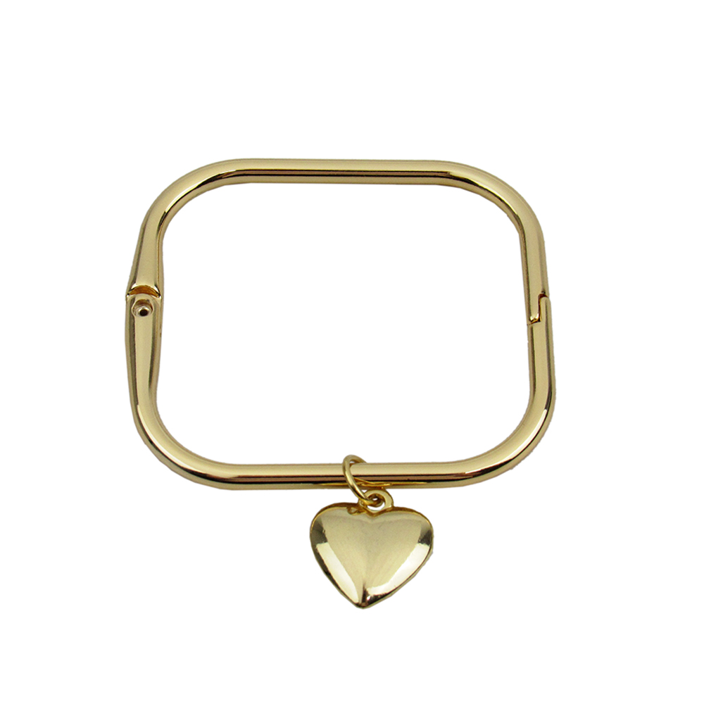 Bracelete Quadrado com Pingente Coração