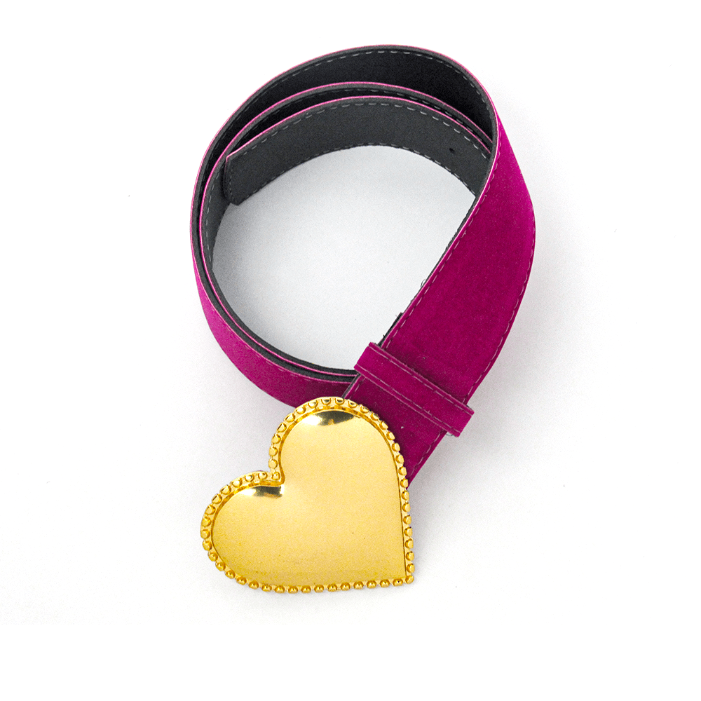 Cinto Coração - Fiv. Dourada 4Cm
