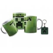 Caneca Plástica e Chaveiro Minecraft