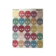 Cartela Adesiva Caveiras Colors Skulls.