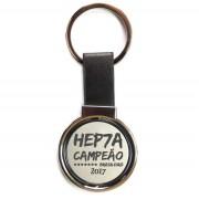 Chaveiro Giratório Couro Corinthians Hepta Campeão