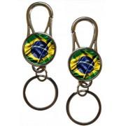 Chaveiro Mosquetão Brasil