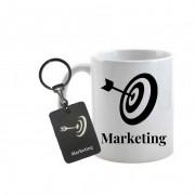 Conjunto caneca e chaveiro Profissão Marketing