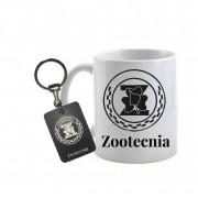 Conjunto caneca e chaveiro Profissão Zootecnia