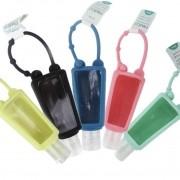 Kit 5 Frasco Higienizador Plástico Com Capa De Silicone 30 ml
