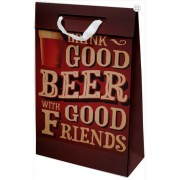 Kit com 3 Sacolas de Presente Beer Friends M