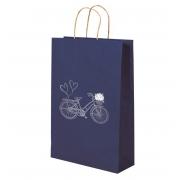Kit com 3 Sacolas Kraft Bike Azul