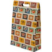 Kit com 3 Sacolas Placas Vintage M