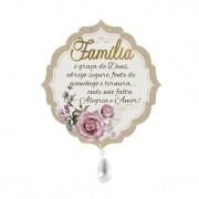 Móbile com Aplique Oração da Família