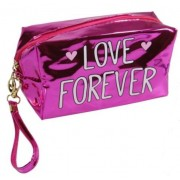 Necessaire Metálica Love Forever Pink