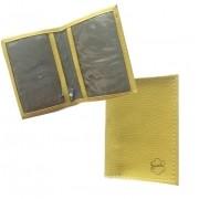 Porta-cartão De Visita Courino Amarelo
