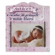 Porta-Retrato para Bebê Nascer Rosa