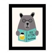 Quadro Kids Urso Livro