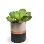 Vaso de cimento preto e cobre