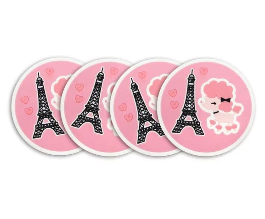 4 Porta-copos Paris
