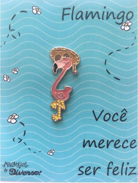 Botton Broche Flamingo