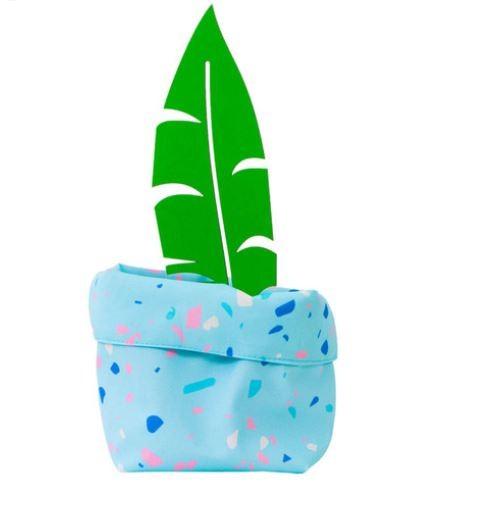 Cachepot Tecido - Confete Candy Azul