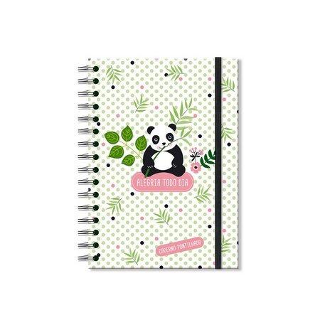 Caderno Pontilhado Panda