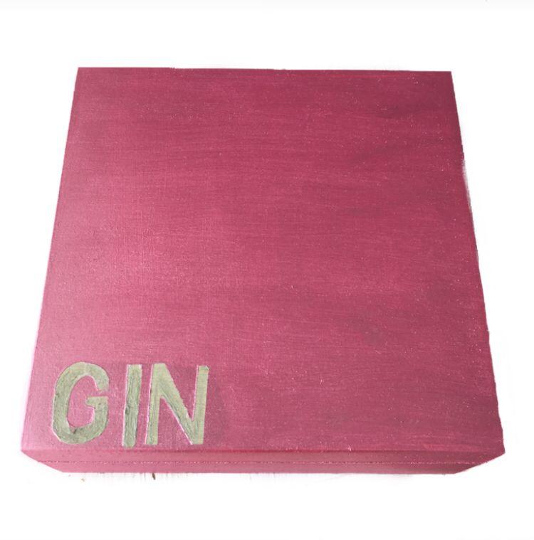 Caixa de Especiarias para Gim Rosa Metálico
