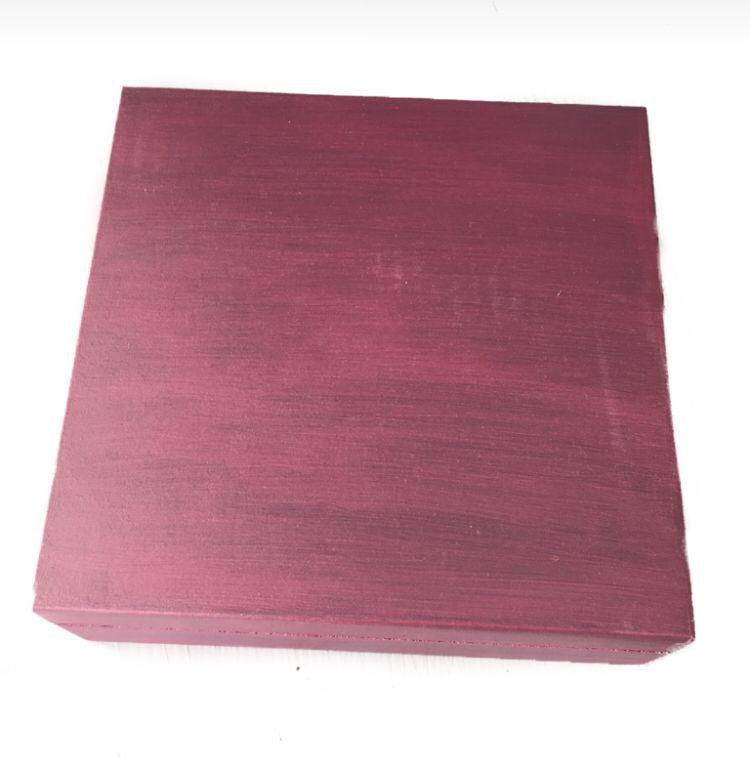 Caixa de Especiarias Rosa Metálico