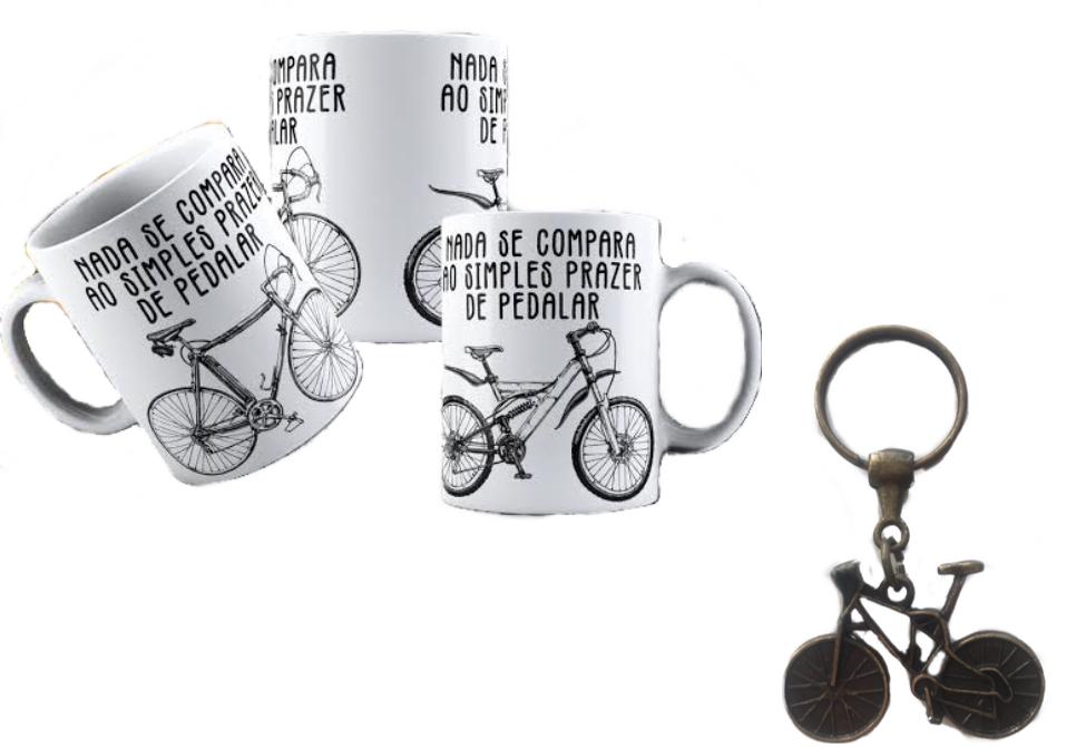 Caneca e Chaveiro Bicicleta