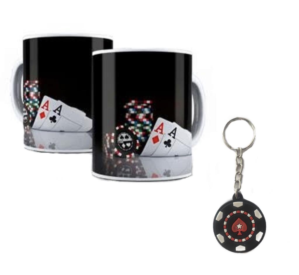 Caneca e Chaveiro Poker