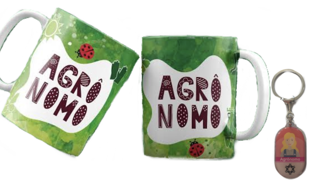 Caneca e Chaveiro Profissão Agronomia