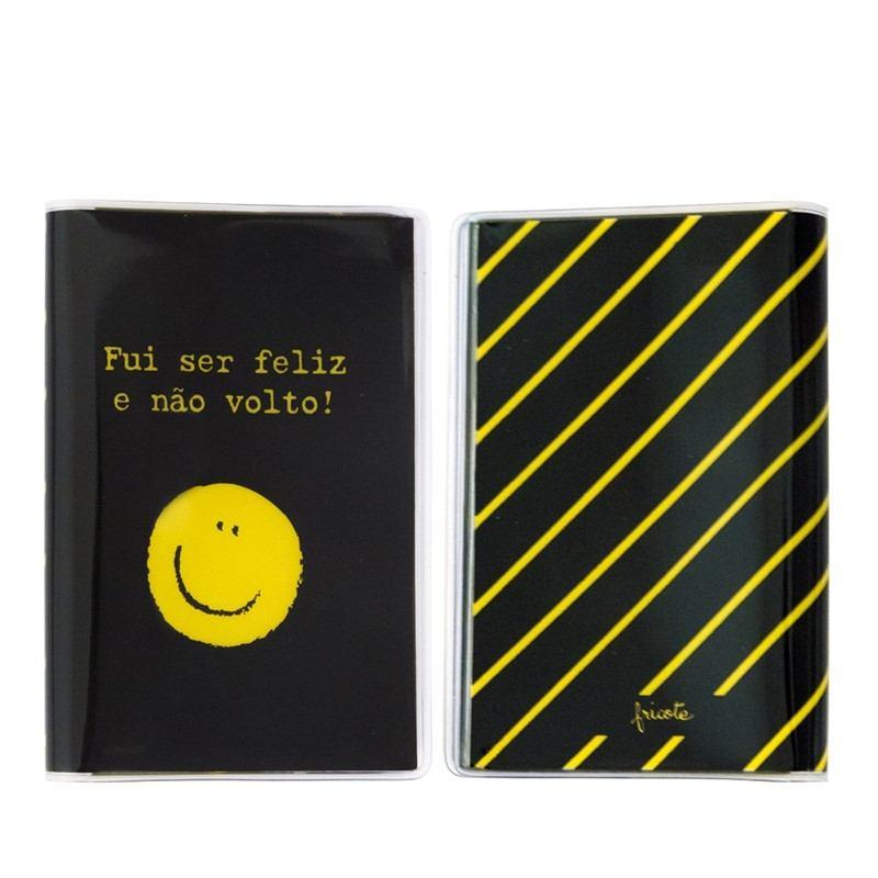 Capa para passaporte - Carinha feliz