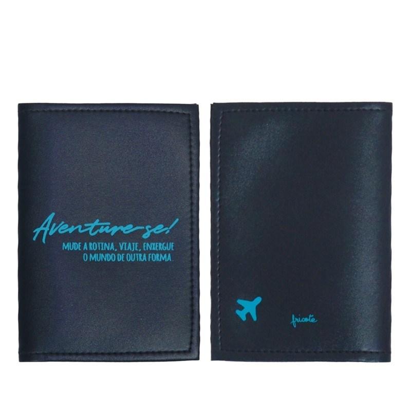 Capa para passaporte especial Chic - Aventure-se Azul Marinho