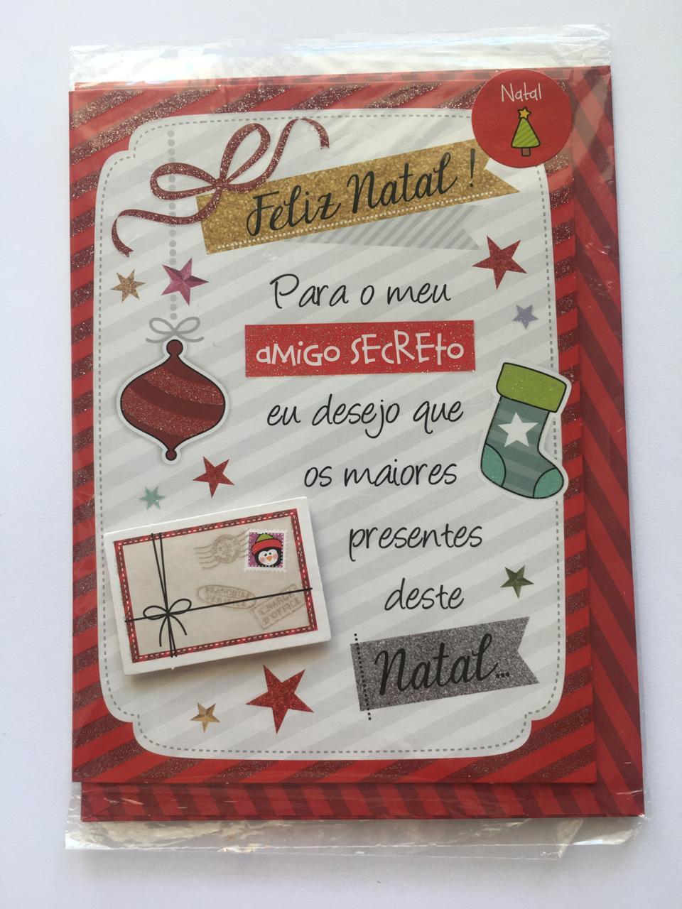 Cartão de Natal Amigo Secreto