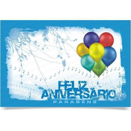 Cartão de presente feliz aniversário
