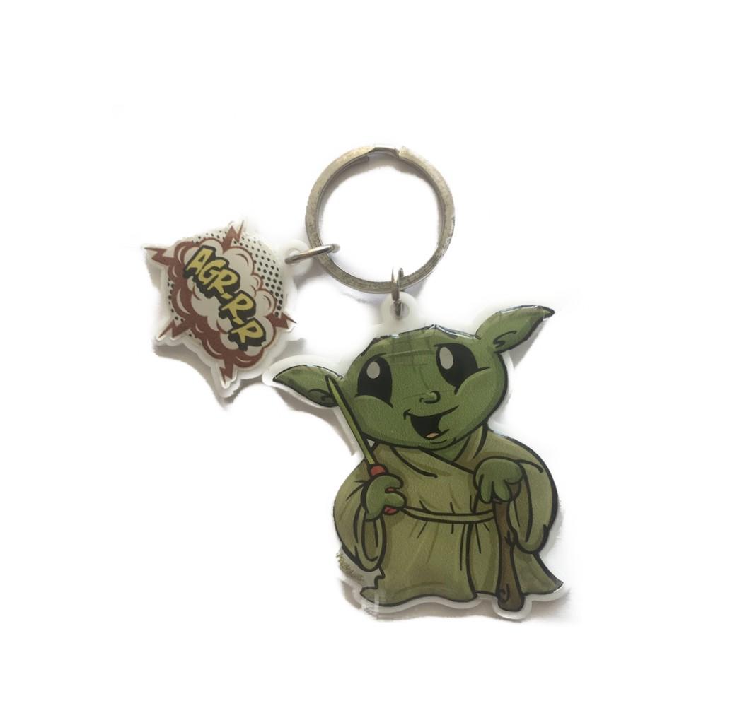 Chaveiro Acrílico Mestre Yoda